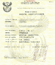 Death Certificate Issue